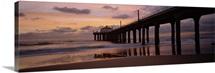 Hut on a pier, Manhattan Beach Pier, Manhattan Beach, Los Angeles County, California