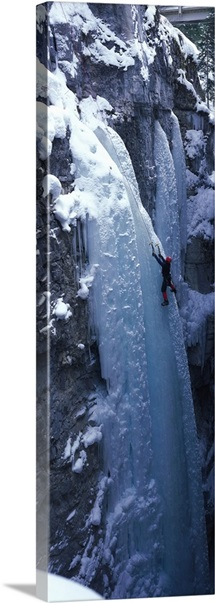 Ice Climber Marble Canyon Kootenay National Park British Columbia Canada