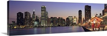 Illinois, Chicago, View of the Navy Pier & Skyline