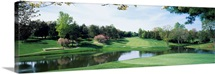 Lake on a golf course, Congressional Country Club, Bethesda, Maryland