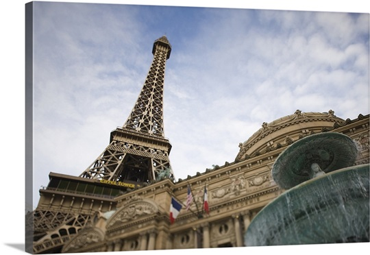 Low angle view of a hotel, Paris Las Vegas, The Strip, Las Vegas, Nevada