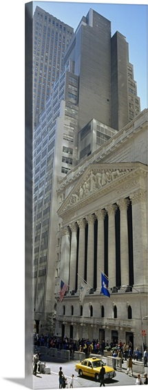 Low angle view of a stock exchange building, New York Stock Exchange, Manhattan, New York City, New York State