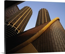 Low angle view of buildings, Marina Towers, Chicago, Illinois
