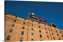 Low angle view of Oriole Park at Camden Yards, Baltimore, Maryland
