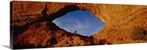 Low angle view of person mountain biking, Utah