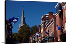 Low angle view of St. Anne&amp;#39;s Church, Main Street, Annapolis, Maryland