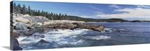 Maine, Acadia National Park, Atlantic Ocean, Rocks along the coast