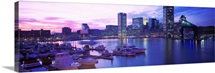 Maryland, Baltimore, Inner Harbor, sunset