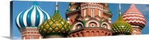 Mid section view of a cathedral, St. Basils Cathedral, Red Square, Moscow, Russia