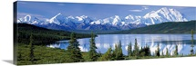 Mt McKinley Alaska Range Wonder Lake Denali National Park AK