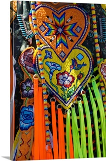 Native american indian ceremonial costume, detail.