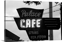 Neon sign of a cafe, Palace Cafe, Opelousas, St. Landry Parish, Louisiana