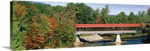 New Hampshire, Conway, Covered bridge over Saco River