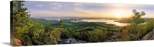 New Hampshire, Lake Winnipesaukee, sunrise