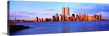 New York City, skyline with World Trade Center