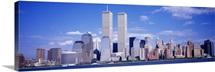 New York City, with World Trade Center