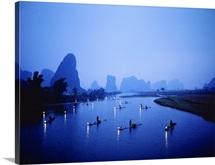 Night Fishing Guilin China