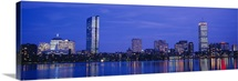 Night, Skyline, Back Bay, Boston, Massachusetts