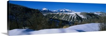Panoramic view of snowcapped mountains, Telluride, Colorado