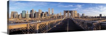 Pedestrian Walkway Brooklyn Bridge New York NY