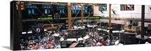 People at a stock market, New York Stock Exchange, New York City, New York State