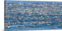 People competing in the Ford Ironman World Championship, Kailua Kona, Hawaii,
