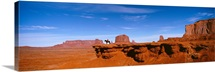 Person riding a horse on a landscape, Monument Valley, Arizona