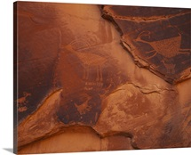 Petroglyphs on the rocks, Monument Valley Tribal Park, Arizona