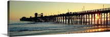 Pier in the ocean at sunset Oceanside San Diego County California