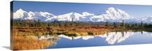 Pond Alaska Range Denali National Park AK