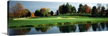 Pond in a golf course, Westwood Golf Course, Vienna, Fairfax County, Virginia,