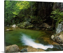 Pool at base of Sabbaday Falls, White Mountain National Forest, New Hampshire
