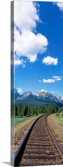Rail Road Tracks Banff National Park Alberta Canada