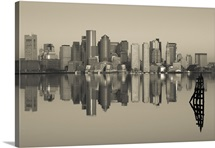 Reflection of buildings in water, Boston, Massachusetts