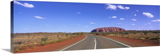 Road and Ayers Rock Australia