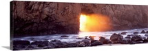 Rock formation on the beach, Pfeiffer Beach, Big Sur, California,