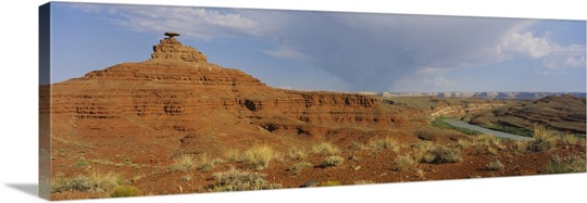 Rock formations on a landscape mexican hat san juan for Landscaping rocks utah county