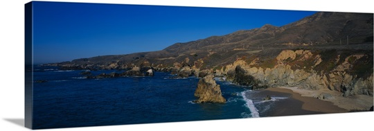 Rock formations on the coast, Big Sur, Garrapata State Beach, Monterey Coast, California