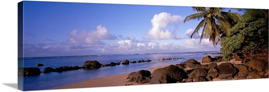 Rocks on the beach, Anini Beach, Kauai, Hawaii