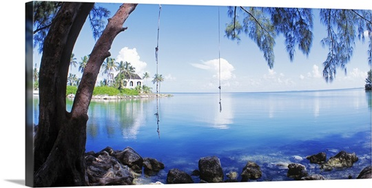 Rope swing over water florida keys fl photo canvas print for Swing over water