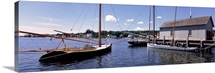Sailboats in a river, Mystic, New London County, Connecticut