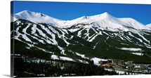 Ski resorts in front of a mountain range, Breckenridge, Summit County, Colorado