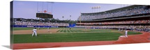 Spectators watching a baseball match, Dodgers vs. Yankees, Dodger Stadium, City of Los Angeles, California