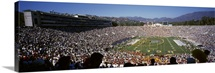 Spectators watching a football match Rose Bowl Stadium Pasadena City of Los Angeles Los Angeles County California