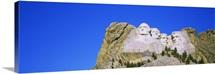 Statues on a mountain, Mt Rushmore, Mt Rushmore National Memorial, South Dakota