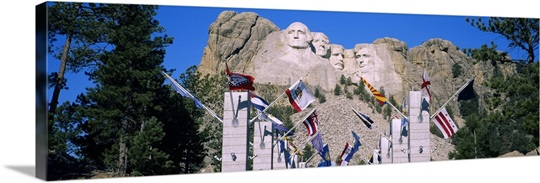 Statues on a mountain, Mt Rushmore, Mt Rushmore National Memorial, South Dakota