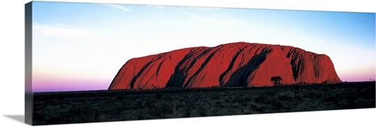 Sunset Ayers Rock Uluru Park Australia