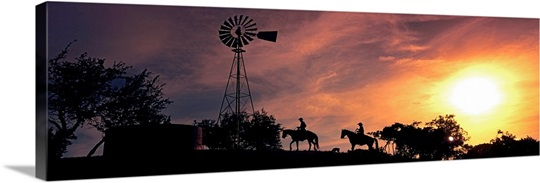 Sunset Cowboys Texas