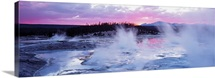 Sunset Norris Geyser Basin WY