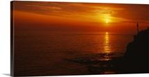 Sunset over the sea, Laguna Beach, California